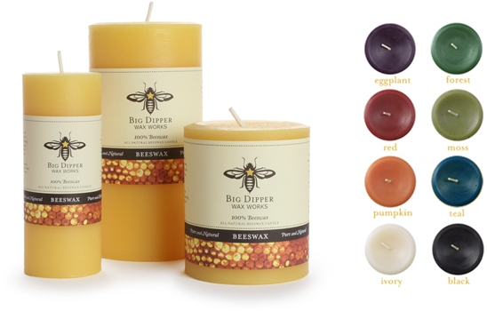 Pure Beeswax Pillars