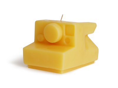 Beeswax Instant Camera Candle