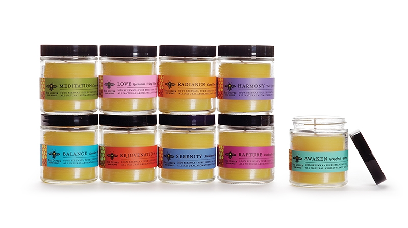 Beeswax Aromatherapy Apothecary Glasses