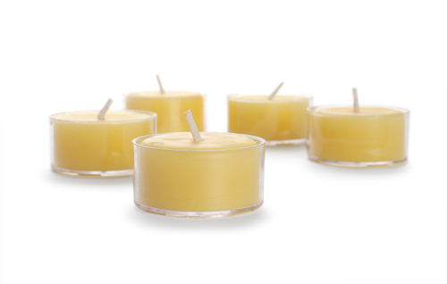 Pure Beeswax Tea Light SECONDS - BULK 24 Count