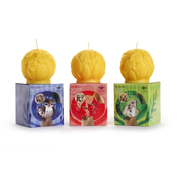 Beeswax Ornament Candles - Seconds! 25% OFF!