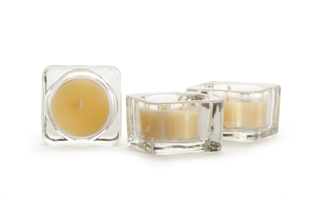 Square Glass Tea Light Holder
