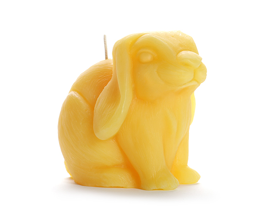 Beeswax Bunny Candle