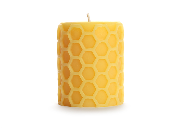 Beeswax Honeycomb Pillar