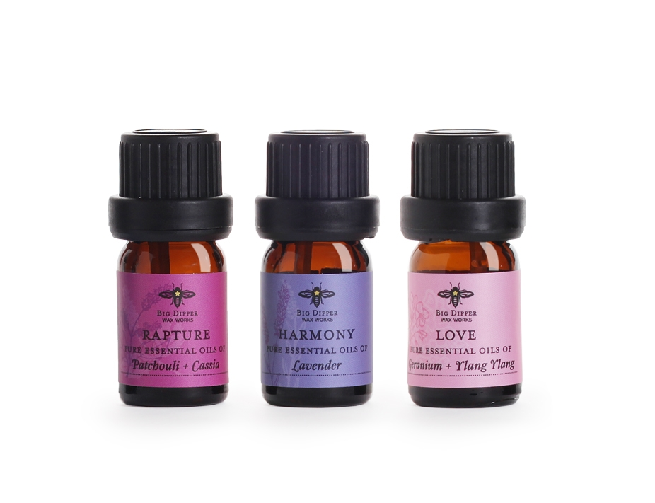Pure Essential Oil Blends: Rapture, Harmony, Love