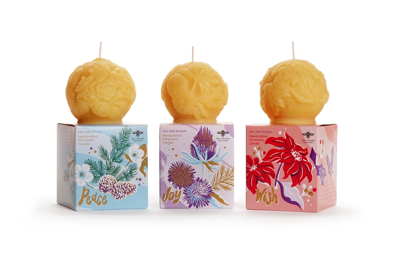 Beeswax Ornament Candles