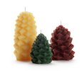 Beeswax Pinecone Candles