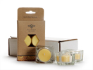 Square Glass Tea Light Gift Set